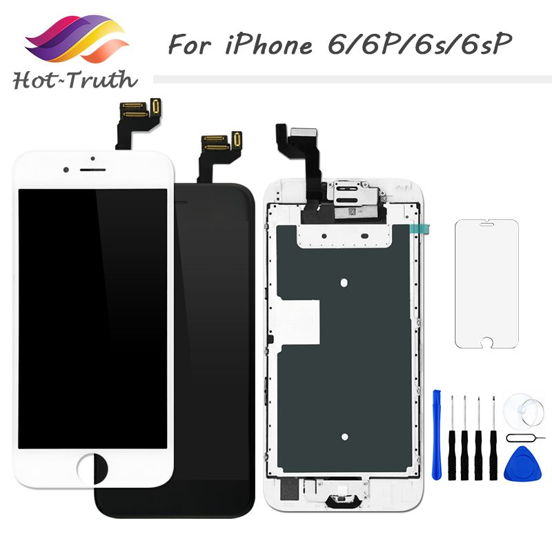 1PCS Full Set Screen For iPhone 6 6s 6Plus 6S Plus LCD Display Touch Screen Digitizer Assembly+Front Camera+Home Button+Speaker
