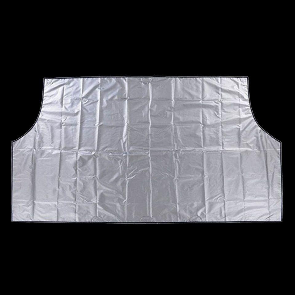 Aimant de voiture Pare-Brise Couverture de Neige Couverture Parasol Glace Neige Gel Protecteur Pare-Brise Argent Noir Couverture