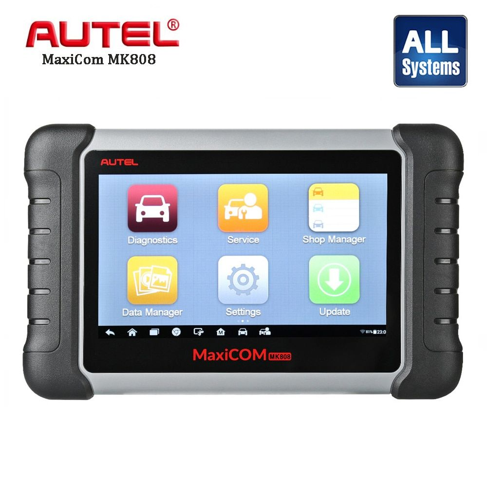 Autel MaxiCom MK808 Automotive Diagnostic Scan Scanner Car Engine Analysis Tool All System Oil Reset EPB DPF TPMS Key Programmer