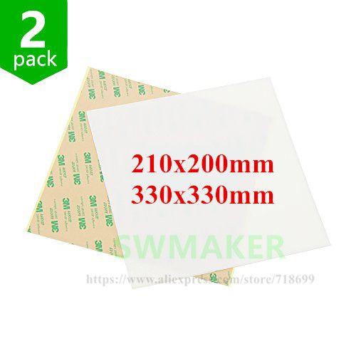 2 stücke 330*330mm 210*200mm Matt dull polnischen PEI blatt 3D Druck Bauen Oberfläche Polyetherimide PEI Blatt für Tronxy X5S 3D drucker