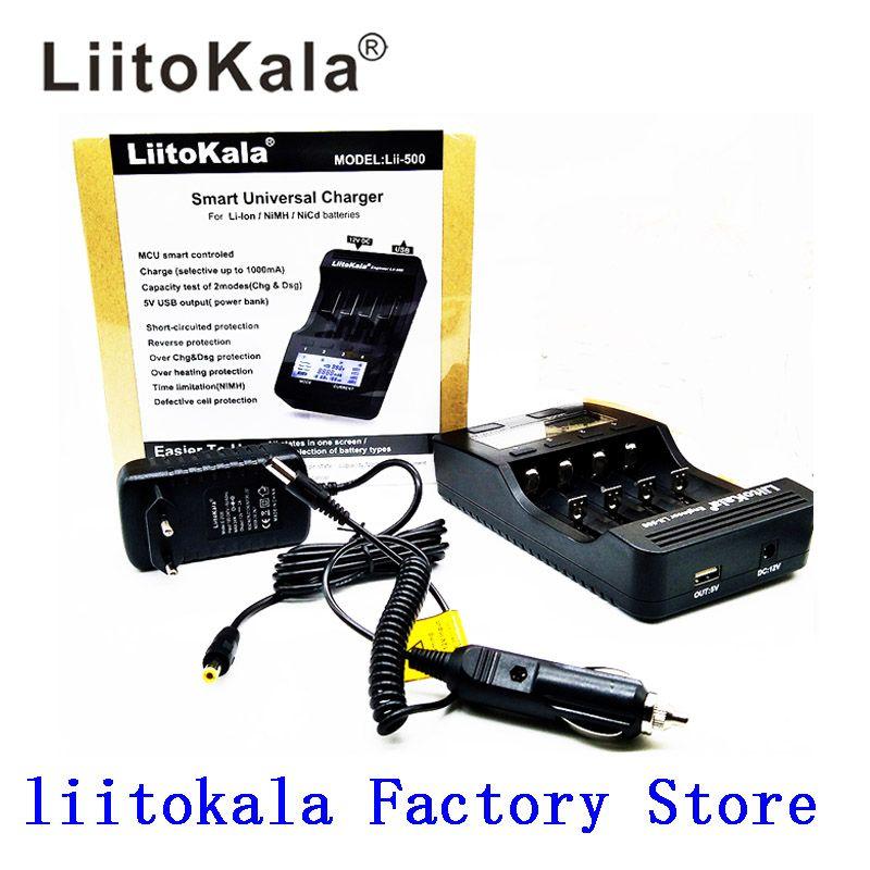 Liitokala lii-500 lii-202 lii-100 lii-402 batterie chargeur 3.7 V/1.2 V 18650/26650/16340/18500 Chargeur de batterie avec écran lii500