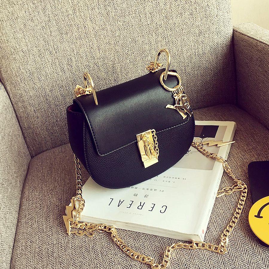 Moda shote femenina cadena bolsa de mensajero lindo de la vendimia bolsitas niña mini hombro del todo-fósforo con la cadena