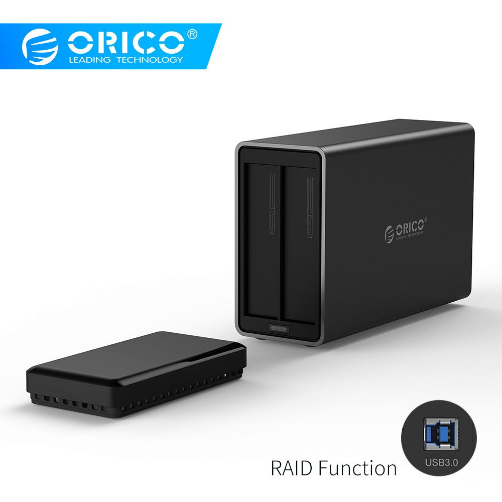 ORICO NS200RU3 2 Bay USB3.0 Festplatte Dock mit Raid Unterstützung 20TB speicher USB3.0 5Gbps UASP mit 12V4A adapter HDD Gehäuse