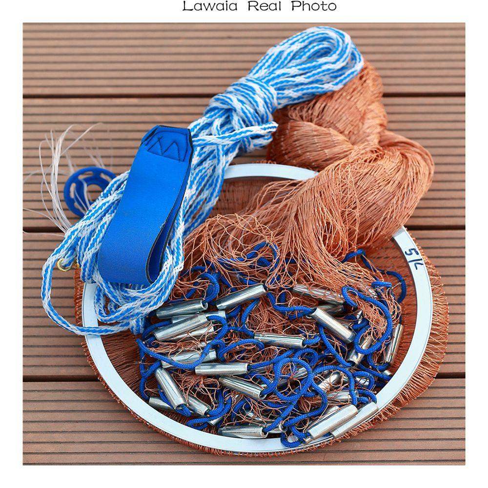 Lawaia Netto Kleine Für Angeln Mesh China Fischernetz Cast Angeln Reifencord Klapp Mesh Fly Klapp 3 mt Handwerk Fisch Net 2,4 mt-7,2 mt