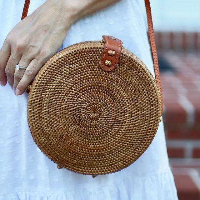 ZHIERNA 2017 Summer new rattan bag pure handmade Qiuteng basket exotic scenery rattan basket bag