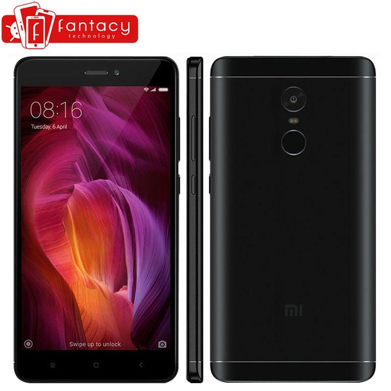 Original Xiaomi Redmi Note 4 Qualcomm 3GB 32GB Global Version Snapdragon 625 Mobile Phone 5.5
