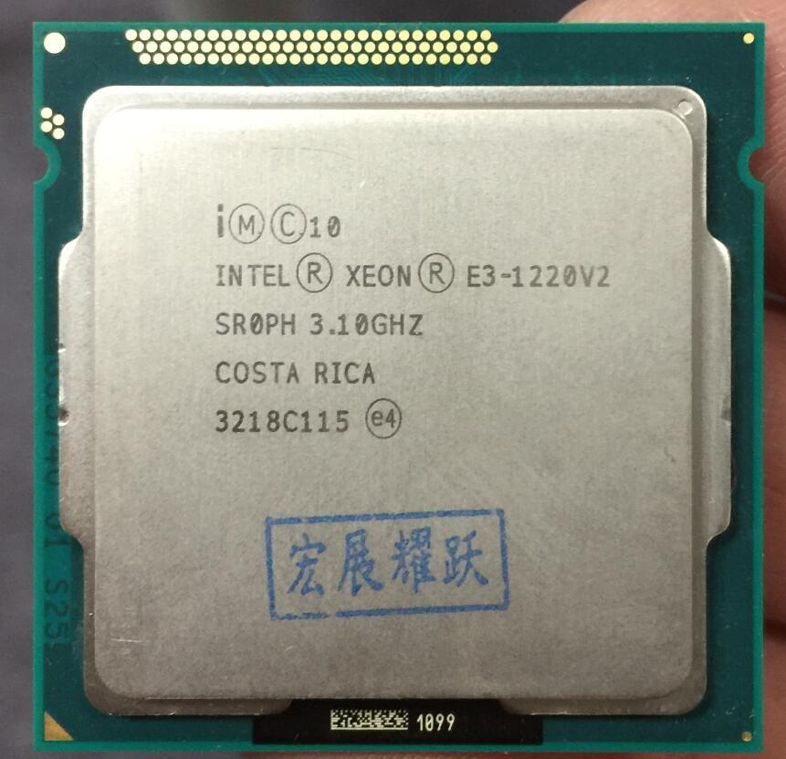 Intel Xeon Prozessor E3-1220 v2 E3 1220 v2 (8 mt Cache, 3,1 ghz) quad-Core Prozessor LGA1155 PC Computer Desktop CPU
