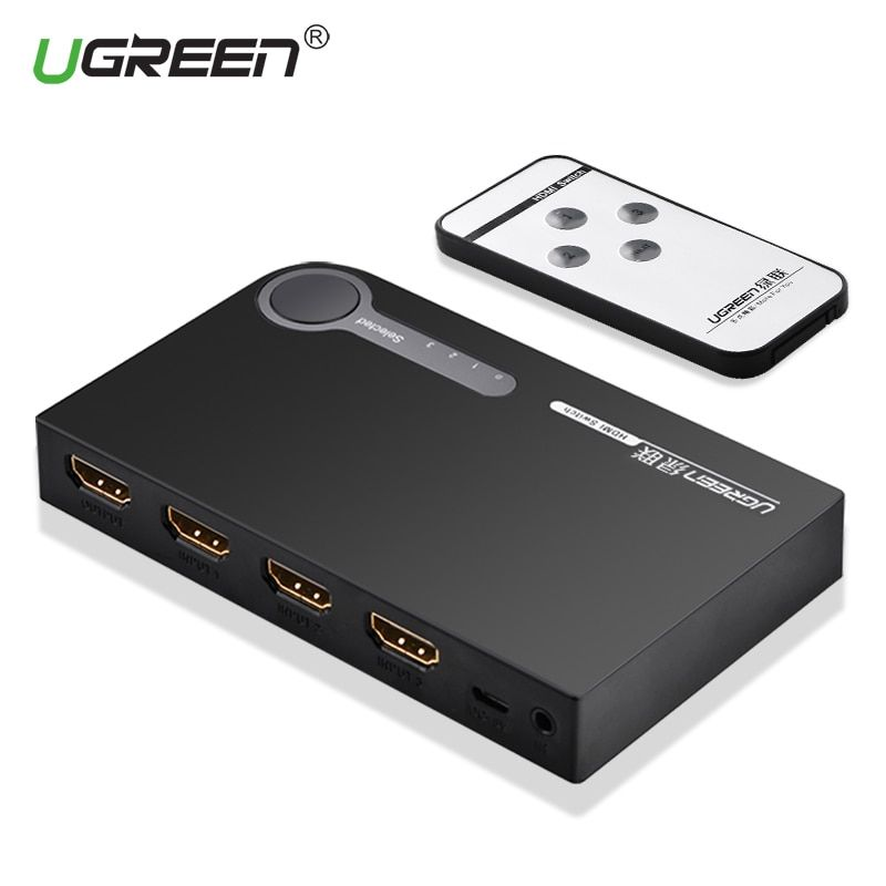 Ugreen HDMI Splitter 3 Port HDMI <font><b>Switch</b></font> Switcher HDMI Port 1080P 3 Input 1 Output 4K Adapter for XBOX 360 PS3 PS4 Android HDTV