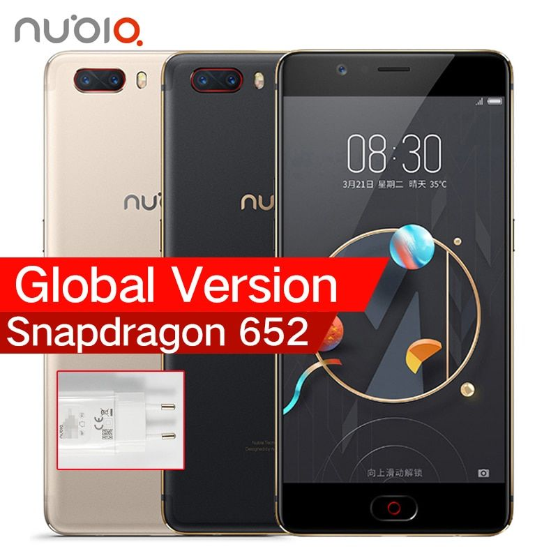 Global Version ZTE Nubia M2 4G LTE Snapdragon 625 Cell Phone 5.5