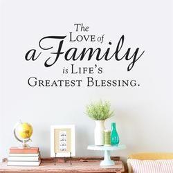 Keluarga cinta adalah hidup greast berkat dekorasi Rumah Dinding Stiker Decals Dinding Vinyl Removable Mural ruang tidur