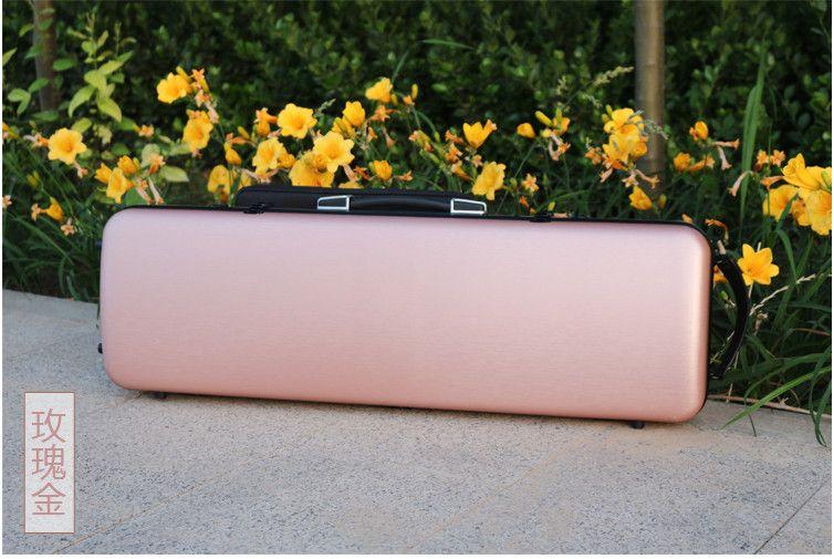 New 4/4 Violin Case Carbon Fiber Strap Hard Case Gold Yinfente Support 150kg