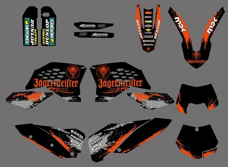 NICECNC 0311 Sticker Team Graphic Matching Background Decal For KTM 125 250 350 450 525 530 SX SXF SX-F 07-10 EXC XCF XC-F 08-11