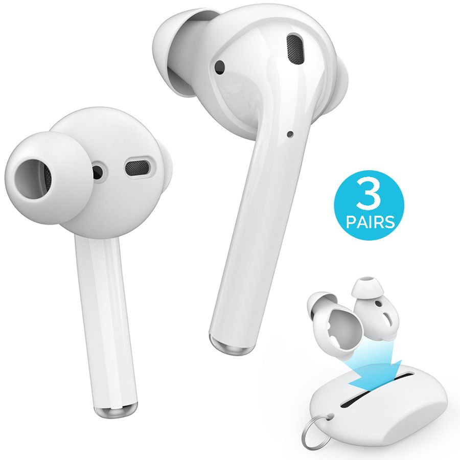 3 Pairs Silicone In-ear Headset Earbuds Cover for Apple Airpods Earphone Case Eartips Storage Box Pouch for Airpods Accessories
