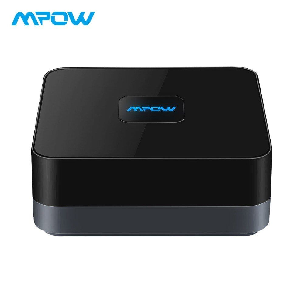 MPOW Sans Fil Bluetooth 4.1 Récepteur Audio Adaptateur 3.5mm RCA Câble Avec Haute-fidélité Stéréo Son et Batterie Intégrée pour La Maison