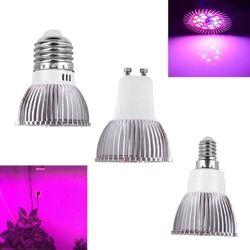 Espectro completo LED cfl crece la luz Lampada E27 E14 MR16 GU10 IR UV lámpara de interior de la planta floración sistema hidropónico jardín AC85-265V