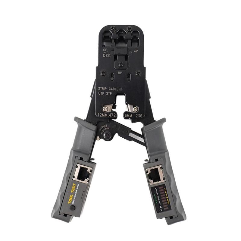 2 in 1 Network LAN Cable Crimper Pliers Cutting Tool Cable Tester Cable Pliers 6P/8P Wire Cutter Tool Test Crimping Pliers