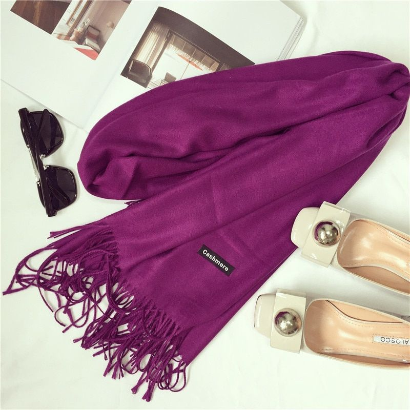 2017 brand women scarf fashion soild autumn winter cashmere scarves lady warmer pashmina long shawl wraps bandana foulard female