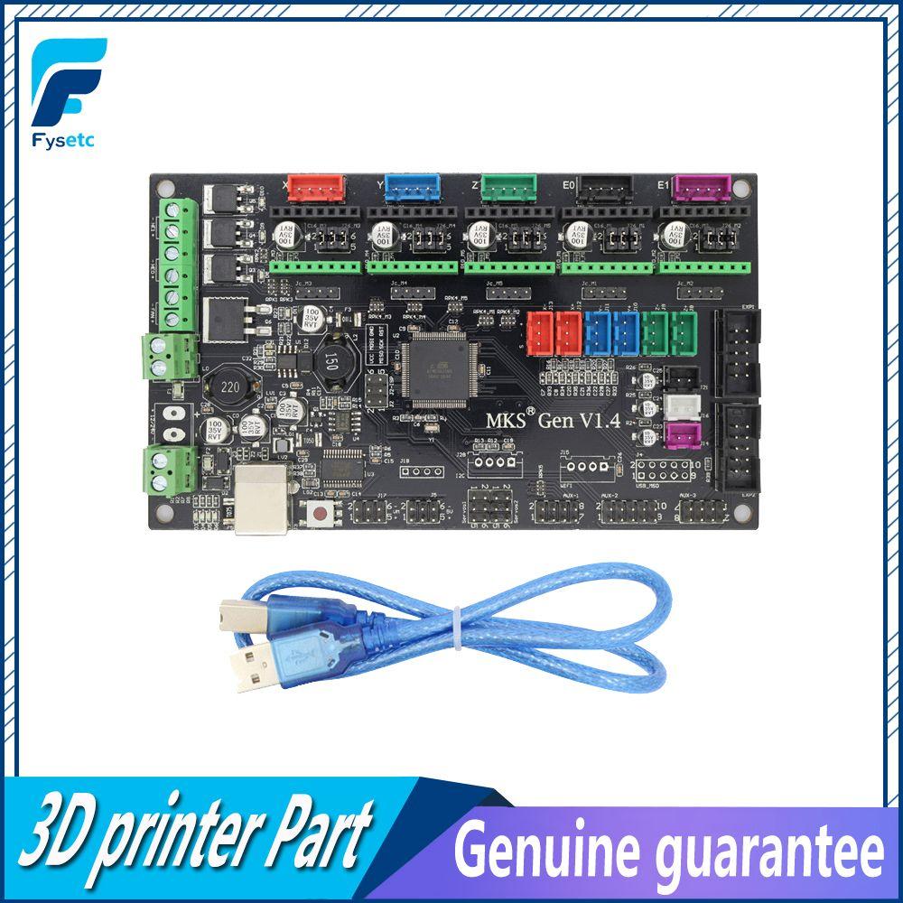Latest 3D printer MKS Gen V1.4 control board Mega 2560 R3 motherboard RepRap Ramps1.4 compatible, with USB For 3d Printer
