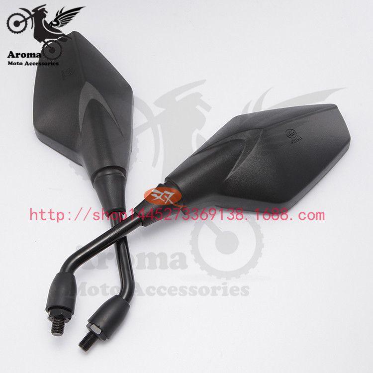 black 10mm 8mm univeral ATV acessorios motocross parts motorbike rear view mirrors motorcycle side mirror moto rearview mirror