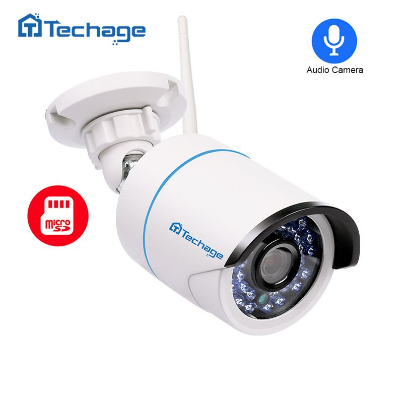 Techage 720P 960P 1080P Wireless Wifi Camera Home Security Audio Record Sound IP Camera Outdoor Waterproof Onvif SD TF Card Slot