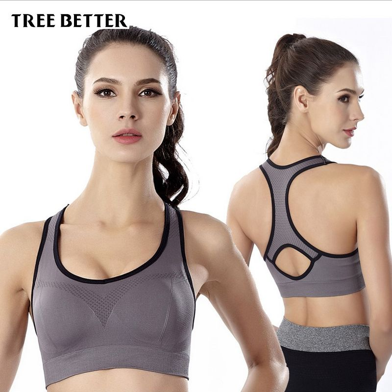 Shockproof Sports Bra women Stretch Push Up Padded Fitness Vest Breathable Seamless Underwear Yoga Running Brassiere sport Tops