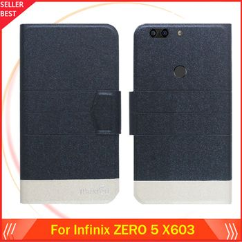 5 Colors Hot!! Infinix ZERO 5 X603 Case Dedicated Ultra-thin Leather Exclusive Phone Cover Folio Book Card Slots Free Shipping