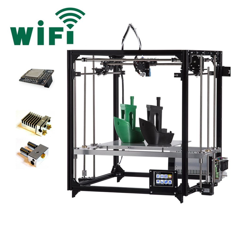 2018 Newest Flsun 3D Printer 3.2 Inch Touch Screen Large Printing Area 260*260*350mm Auto Leveling WIFI With Dual Extruders