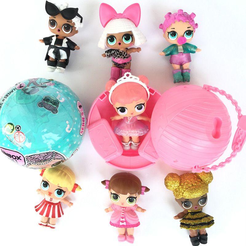 4 шт. 10 см поставка в произвольной последовательности LOL сюрприз Куклы игрушки забавные игрушки для девочек Подарки для детей рождественски...