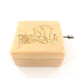 Anonimato manivela de madera belleza y la Bestia caja especial caja de regalo de recuerdo regalo de cumpleaños Party supply