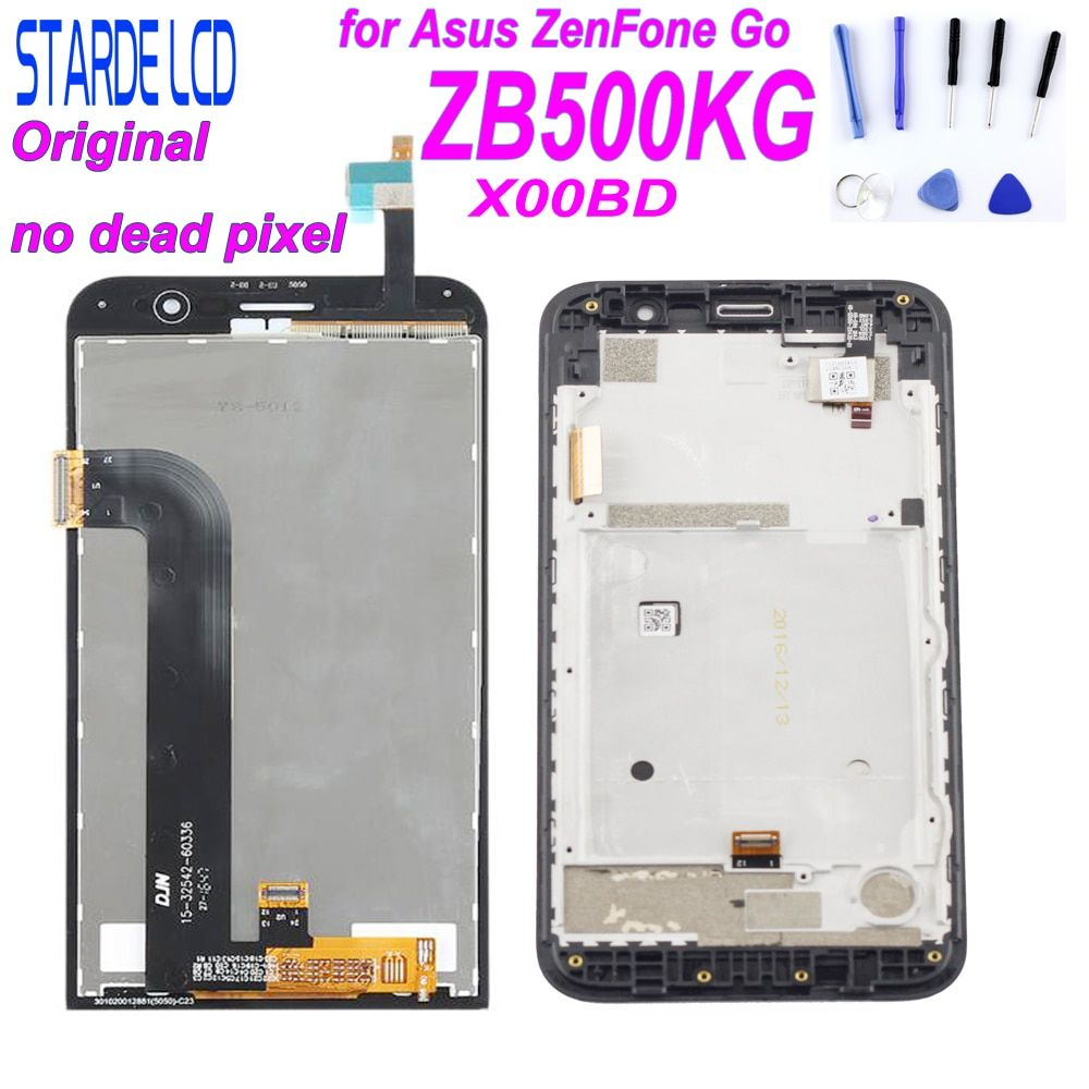 STARDE Original LCD pour Asus Zenfone Go ZB500KG X00BD LCD écran tactile numériseur assemblée avec cadre avec outils gratuits