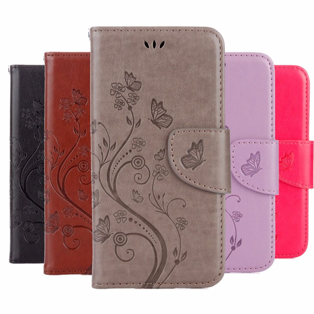 Phone Case For Asus Zenfone 4 Max ZC520KL Case wallet Leather Flip Cover case Butterfly capa For Asus Zenfone 4 MAX ZC554KL Case