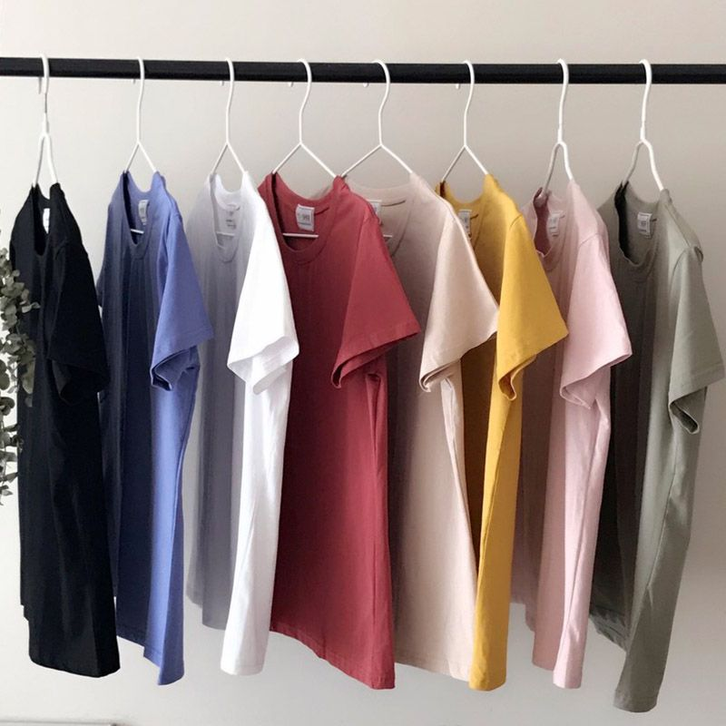 Pure Color Casual Short Sleeved T-shirt, Women's Wear 2018 Spring New Korean Version Of Ulzzang Multi Colored Jacket