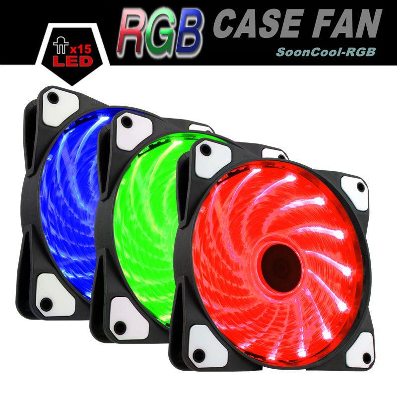 ALSEYE RGB fan cooler 120mm fan 12v for computer housing 1300RPM Multicolor Controllable Cooler Fans
