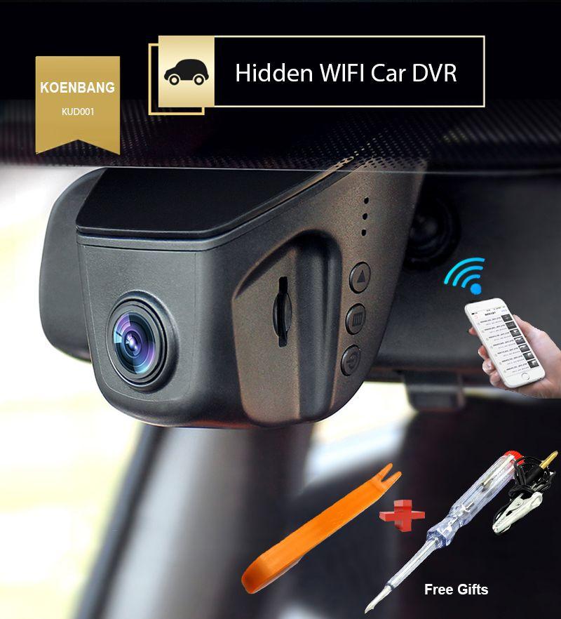 KOENBANG KOEN Voiture DVR Novatek 96655 Pleine HD1080P 6G Objectif H.264 Mini Voiture Tableau De Bord Caméra Vidéo Enregistreur Dashcam