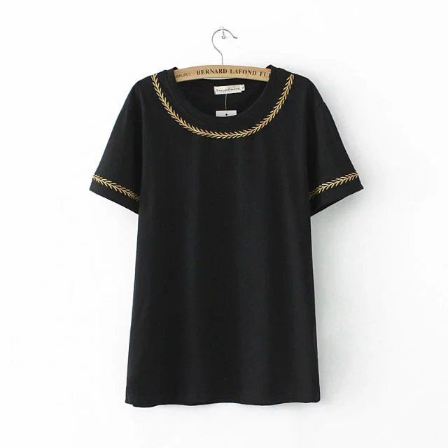 2018 new summer wear T-Shirts short sleeves small fresh body repair thin and regular bottoming shirt