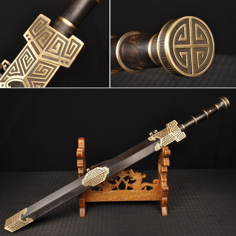 H-quality Chinese Han Dynasty Sword Fully handmade Damascus folded steel Full tang blade Collecation Sword Chinese Knife