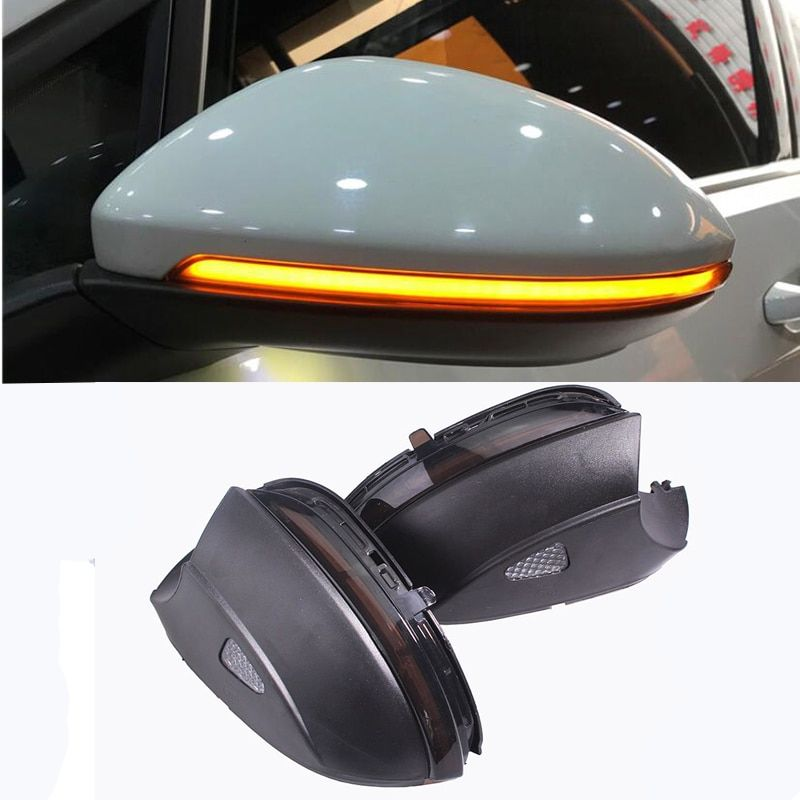 Blink Rear Side Mirror LED Water Flowing Rearview Mirror Turn Signal light For VW Passat B7 CC Jetta MK6 Beetle Scirocco