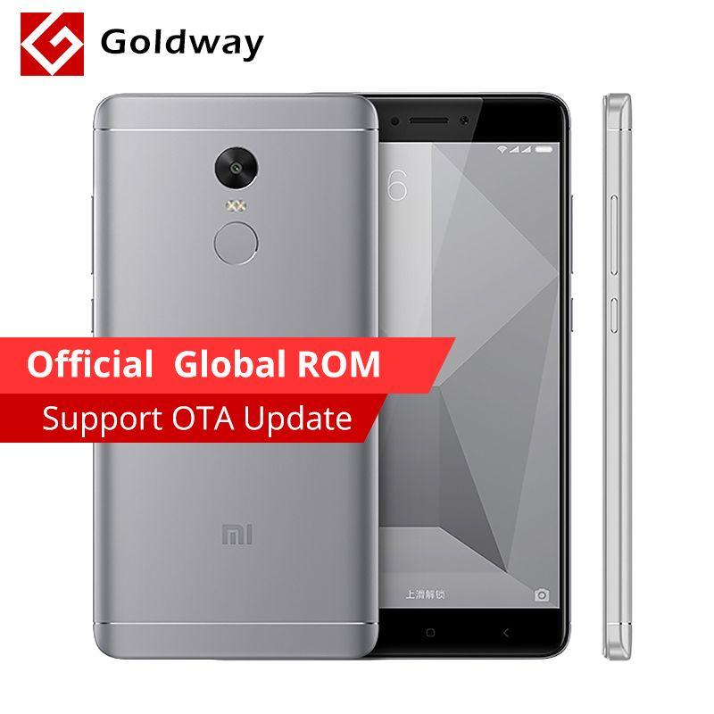 Original Xiaomi Redmi Note 4X 3GB RAM 32GB ROM Mobile Phone Snapdragon 625 Octa Core 5.5