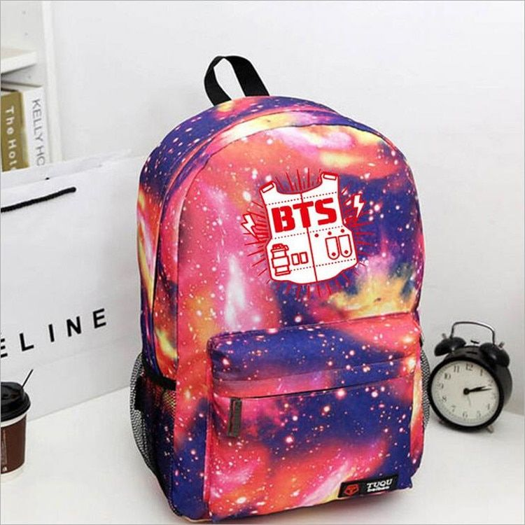 2016 new kpop bts bangtan boys Hot BTS bulletproof Cadet Corps Students canvas shoulder back mountaineering tourism k pop