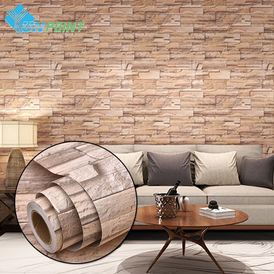 3M/5M Modern Vinyl Self adhesive Wallpaper PVC Waterproof Stone Wallpapers Gray White Brick Wall Stickers for Bedroom Home Decor