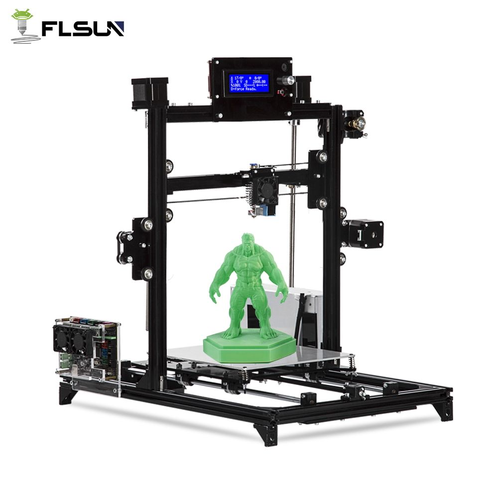 Flsun I3 3d Printer Auto Level DIY 3D-Printer Kit Printing Size 200*200*220mm High Precision Double Z Motors Heated Bed Support