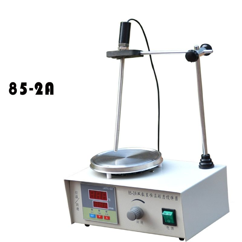 Lab Magnetic Stirrer with heating plate hotplate and Temperature dispaly 220V 85-2A constant temperature