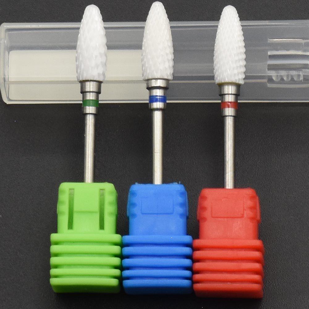 Jewhiteny Keramik Nagel Bohrer Für elektrische maniküre maschine zubehör Nagelkunstwerkzeuge Elektrische Maniküre Cutter Nagelfeilen