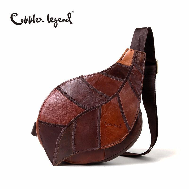 Cordonnier légende marque Design 2018 en cuir véritable sac poitrine Pack sac Messenger pour femmes Vintage sacs à bandoulière bolso de las mujeres