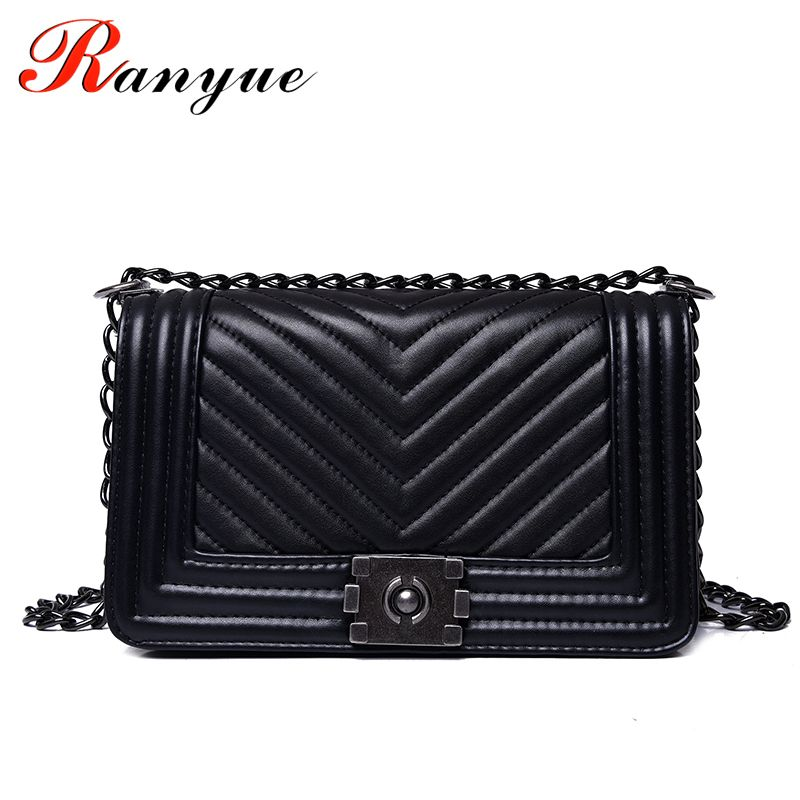 RANYUE Luxury Handbags Women Bags Designer Women Messenger Bags 2017 Summer Vintage Fashion V Small Chain Crossbody Bag Hot Sale