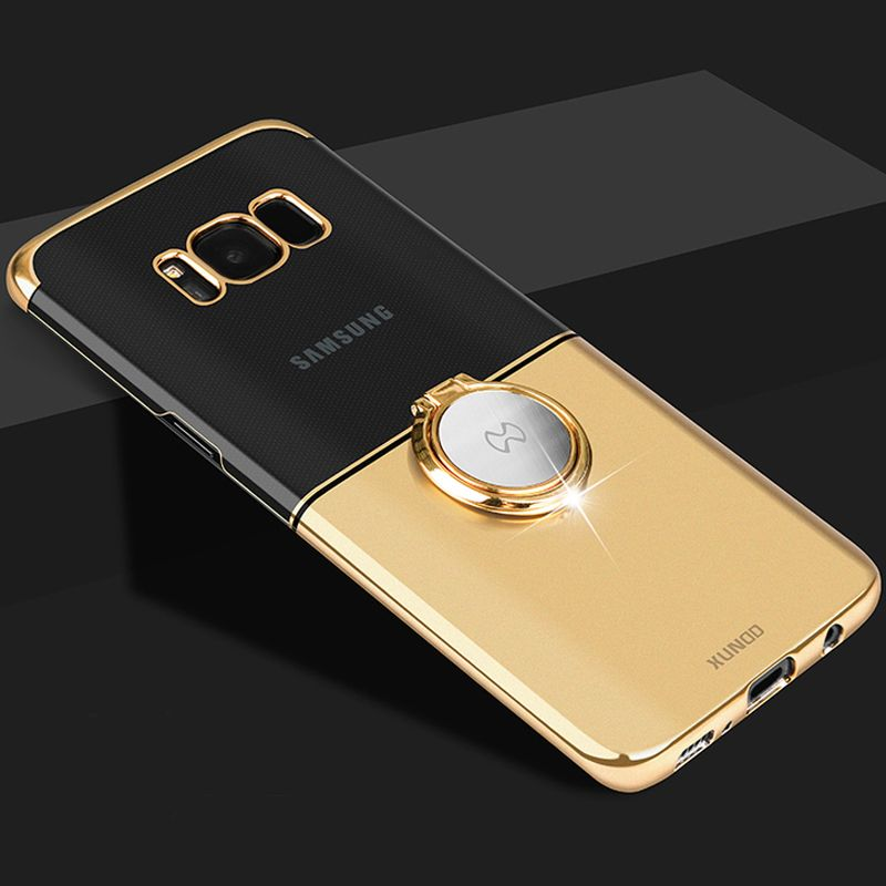 Xundd Luxury Transparent PC For samsung galaxy s8 Case Cover Magic magnetic +  Ring Holder back shell for galaxy s8 plus case