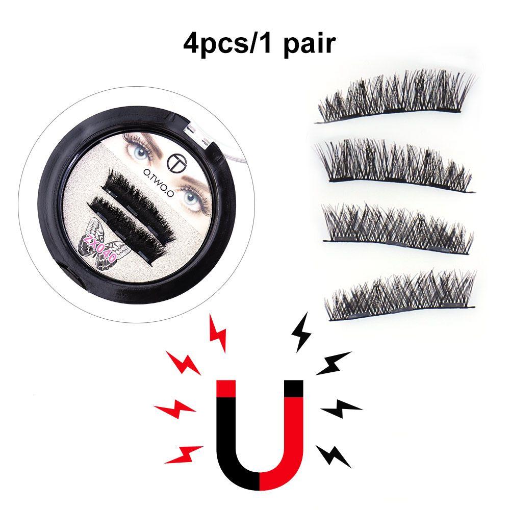 O.TWO.O 10Types 3D Mink Magnet Eye Lashes Beauty Eyes Makeup Long-lasting Natural Fake Eyelashes Eyes lashes Makeup 2pcs/lot