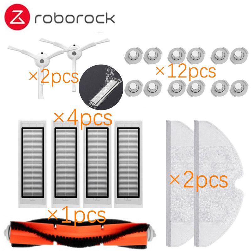 Approprié pour Xiaomi Roborock Robot S50 S51 Aspirateur Pièces De Rechange Kits Vadrouille Chiffons Vadrouille Mouillée filtre Côté Brosse Rouleau brosse