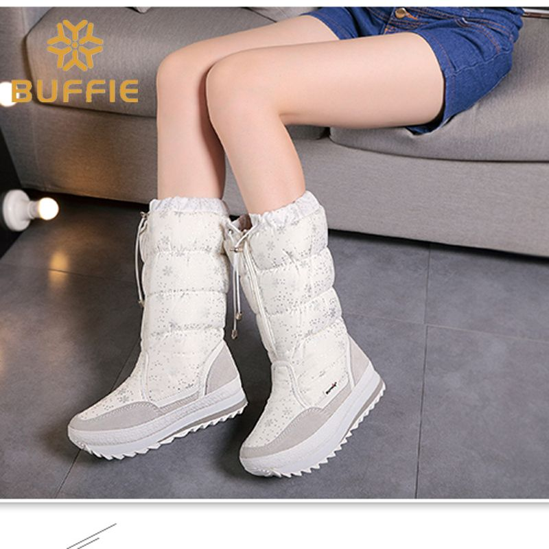 Buffie winter hot selling female women boots four colour white black grey and navy botas hot selling <font><b>china</b></font> brand winter boots