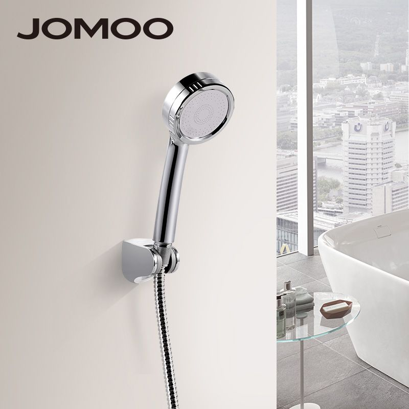 JOMOO Bathroom High <font><b>Pressure</b></font> Shower Head Water Saving Round ABS for wc Handheld rainfall Showers heads douche with holder hose